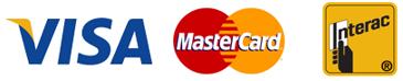 Credit Card Logos for Via Mastercard Interac